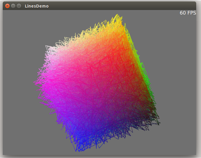Drawing Lines Webgl : Threejs line demo on qml canvas d spaziocurvo